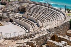 罗马圆形剧场在塔拉贡纳,西班牙 免版税库存照片