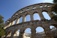 罗马圆形剧场普拉(克罗地亚) 免版税图库摄影