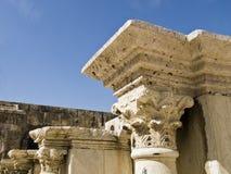 罗马圆形剧场的详细资料 免版税库存图片