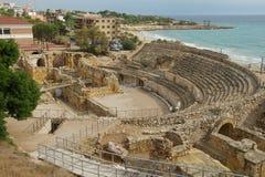 罗马圆形剧场,塔拉贡纳,西班牙 免版税图库摄影