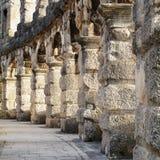 罗马圆形剧场细节普拉的克罗地亚 免版税库存图片