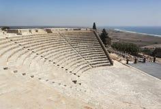 罗马圆形露天剧场在塞浦路斯 免版税库存照片