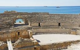罗马圆形露天剧场在市塔拉贡纳 免版税库存图片