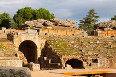 罗马圆形露天剧场在梅里达 免版税库存照片
