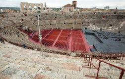 罗马圆形露天剧场在维罗纳,意大利 免版税库存图片