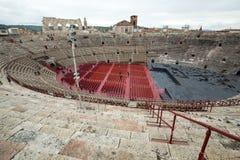 罗马圆形露天剧场在维罗纳,意大利 免版税库存照片