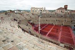 罗马圆形露天剧场在维罗纳, 库存照片