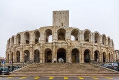 罗马圆形露天剧场在阿尔勒-联合国科教文组织世界遗产在法国 图库摄影