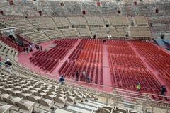 罗马圆形露天剧场在维罗纳,意大利 库存照片