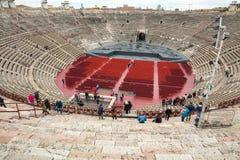 罗马圆形露天剧场在维罗纳, 免版税库存照片