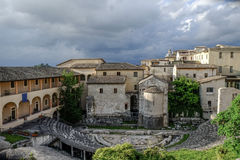 罗马圆形露天剧场斯波莱托意大利 免版税库存图片
