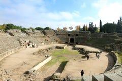 罗马圆形露天剧场梅里达 免版税库存图片
