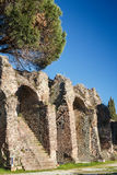 罗马圆形露天剧场的废墟在弗雷瑞斯 免版税图库摄影