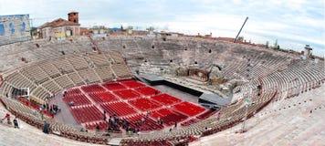 罗马圆形露天剧场竞技场二维罗纳,维罗纳,意大利 库存照片