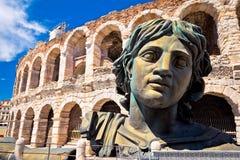 罗马圆形露天剧场竞技场二维罗纳视图 免版税图库摄影