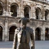 罗马圆形露天剧场,尼姆,法国 免版税库存图片