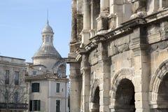 罗马圆形露天剧场,尼姆 免版税图库摄影