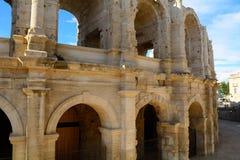 罗马圆形露天剧场,阿尔勒,法国 免版税库存照片
