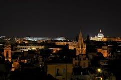 罗马在意大利在晚上之前 免版税图库摄影
