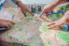 罗马地图 库存照片