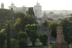 罗马地平线从圣Bonaventura教会的 库存图片