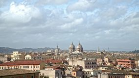 罗马地平线全景timelapse在阴天 罗马是请求的旅游目的地在世界上 影视素材