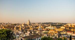 罗马地平线如被看见从Pincio意大利 库存照片