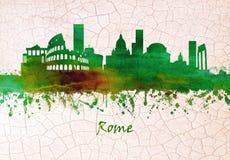 罗马意大利地平线 库存例证