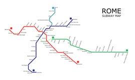 罗马地铁 库存照片