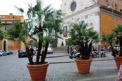 罗马城市生活 罗马市看法2014年5月31日的 免版税库存图片