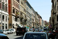 罗马城市生活 罗马市看法2014年6月1日的 库存图片