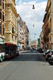 罗马城市生活 罗马市看法2014年6月1日的 免版税库存图片