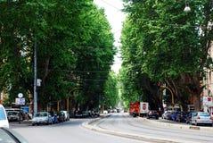 罗马城市生活 罗马市看法2014年5月31日的 库存照片