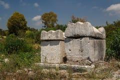 罗马城市的废墟轮胎的 免版税库存图片