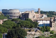 罗马城市的建筑学 库存图片