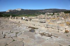 罗马城镇废墟在西班牙 库存图片