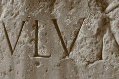 罗马大剧场的数字 免版税库存照片
