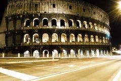 罗马大剧场的晚上 库存照片