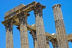 罗马大厦列 免版税库存图片