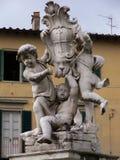 罗马天使雕象 库存照片