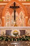 罗马天主教堂的耶稣基督在庄他武里Provinc 免版税图库摄影