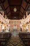 罗马天主教堂,尖竹汶府 库存照片