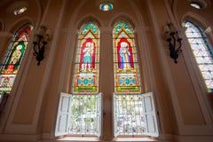 罗马天主教堂,尖竹汶府 免版税库存照片