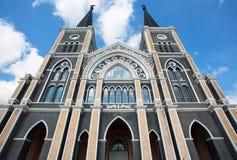罗马天主教堂,尖竹汶府 库存图片