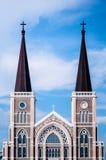 罗马天主教堂,庄他武里,泰国 库存图片