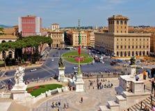 罗马威尼斯广场 库存照片