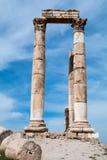 罗马寺庙专栏 免版税库存图片