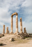 罗马寺庙专栏 免版税库存照片