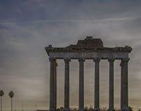 罗马寺庙土星01 库存照片