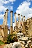 罗马寺庙废墟在科多巴,西班牙 库存照片
